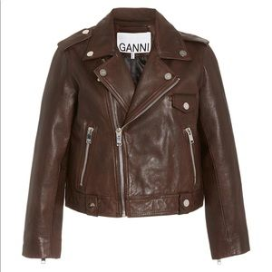 BNWT GANNI leather jacket